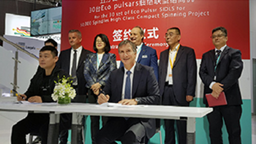 SIGNING CEREMONY AT ITMA ASIA 2018 EXHIBITION IN SHANGHAI